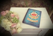 Doraemon and vintage Wedding Theme by magical blossoms