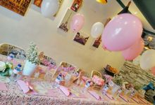 Table setting for birthday by Party Planner Bogor
