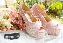 Pink Lace Heels by Temothe Boutique