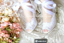 Ribbon Lace Heels by Temothe Boutique