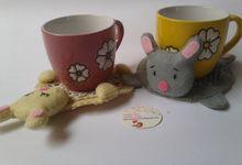 Hunny Bunny Coaster by JollyMe Felt Studio