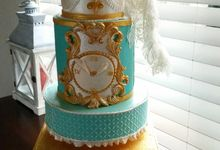 Rococo Wedding Cake by Pretty n Ash Cakes
