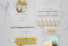 Traditional Themed Invitation by Studio Nata
