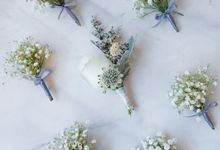 Wintery Themed Wedding by Tiffany's Flower Room