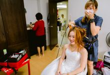 Actual Wedding Day for Yik Sze and Kah Keong - Natural Enhancement Makeup and Elegant Hairstyles by Sylvia Koh Makeup and Hairstyling