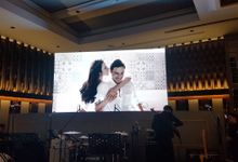 LED Screen - Raisa & Hamish Wedding by Chroma Project