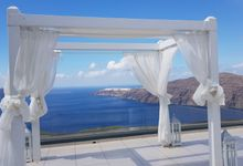 Destination Wedding in Santorini by Designer Wedding Planner