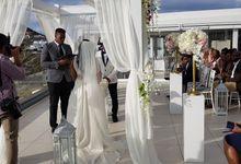 Destination Wedding in Santorini by Designer Wedding Planner