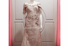 Rosegold Gown For Bride And Groom's Mom by Anita Cynthia Couture