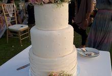 Elegance Pink Wedding Cake by Sugaria cake