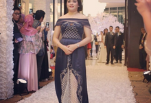 Couture Sister Gown In Navy Blue by Anita Cynthia Couture