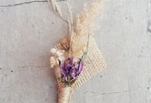 Wedding Corsage/Boutonnieres (Dried Flower) by LitterAlly by Arunika