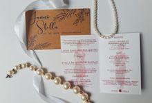 Stela & Janno Invitation Wedding by Artellery.id