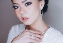 Simple Bride Look by lely murwiki