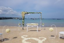 Beach Ceremony Decoration by Jc Florist Bali