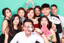 Weijie & Yvonne Wedding Photo Booth by Cloud Booth