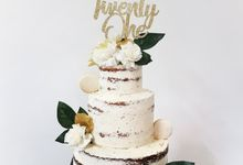 Dessert Table For Your Big Day - Floral Sweet Corner by LÉLE Bakery