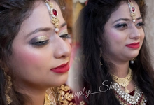 Engagement, Reception Makeup (MAC, HD) by makeupby_shivani
