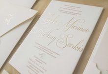 Zdenka & Anthony by Vinas Invitation