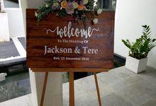 Wedding Jackson & Tere 15 Dec 2018 by Bali Bless Florist