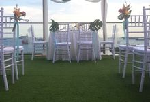 Wedding @ Sky Garden - IFLY - Tropical Theme by Wedding Knots