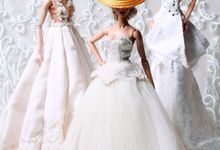 Customized Wedding Doll Miniatures of Brides and Grooms by The Doll Couture Atelier