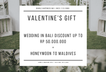 Valentine's Promotion by Double Happiness Wedding Organizer