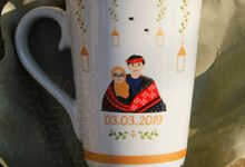 Mug V Wedding GF by Mug-App Wedding Souvenir