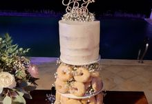 The Wedding Cake Of R + B by Moia Cake