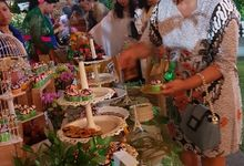 Wedding Cake and Sweet Corner For Balinese Wedding by The Chocolate Land