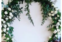 Customised Circular Arch for Rental by Prettyflowers@teo