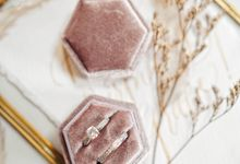Velvet Ring Box (Hexagon) without monogram by Box Of Love
