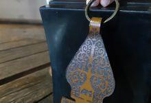 Gantungan Kunci Batik / Batik Leather Keychain by AM Leather Projects