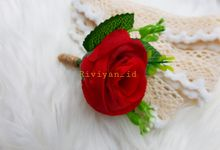 Boutonniere Red Rose Rustik for Groomsman by Riviyan_id