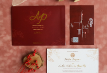 Phelia & Andre Sangjit Ceremony Invitation by Gifu Invitation & Souvenir