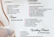 Unforgettable Wedding Vow Wedding Package by darihati.organizer