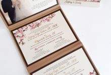 Cherry Blossom's calender invitation by Icreation