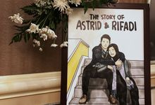4 Frames - The Wedding of Astrid & Rifadi by Illustation