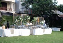 Medina & Farras Outdoor Wedding Manor Andara by Medina Catering