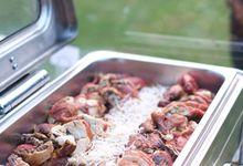 Medina & Farras Outdoor Wedding Manor Andara by Medina Catering