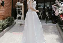 White dress by Ercella Bridal