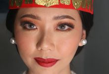 Traditional Adat Wedding Makeup Looks by Hana Gloria MUA