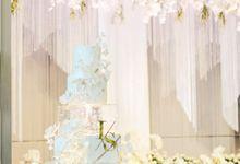 5 Tier Ballroom Size Modern Theme Wedding Cake by K.pastries
