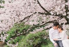 Japan Destination Engagement Portrait by Louis Gan Photography