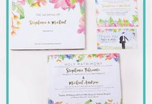 Stephanie & Michael's Wedding Invitation by Hiraloka