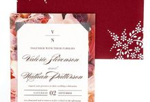 Maroon A7 hand designed envelopes by Lovely Designs