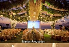 Outdoor Wedding Dinner Reception At Ayana Villa by Marlyn Production