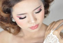 Makeup & Hairdo for The Bride by MakeupByMery_K