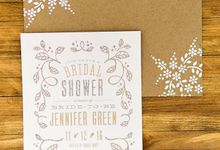 Hand designed Kraft paper A7 envelopes by Lovely Designs