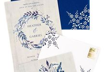 Navy A7 hand designed envelopes by Lovely Designs